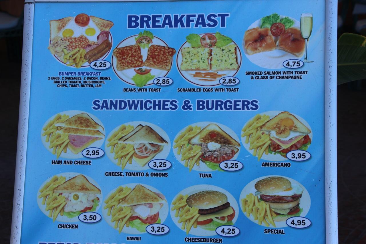 Tenerife Food Prices
