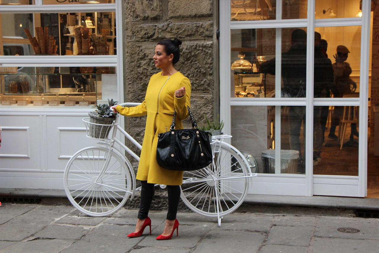 Grazielle Camilleri yellow coat  2