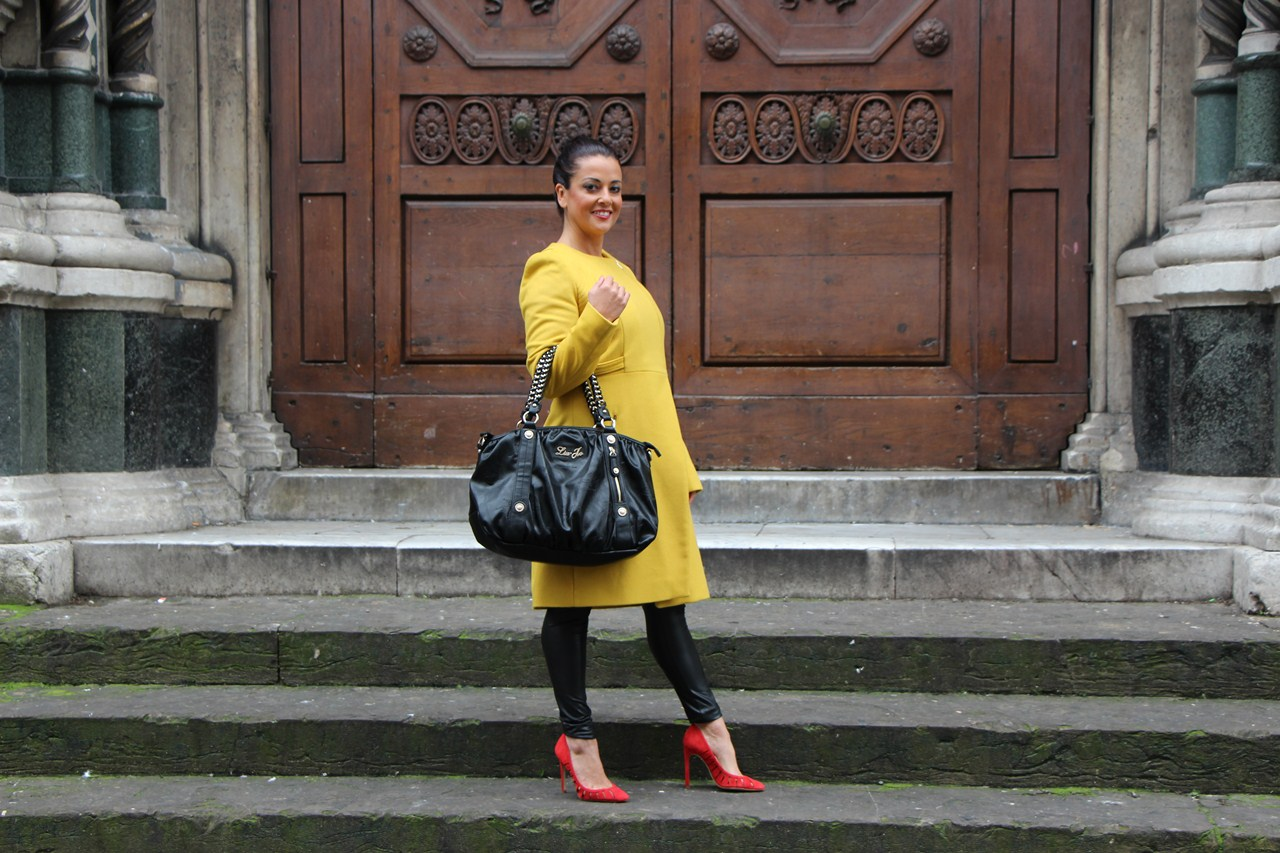 Grazielle Camilleri yellow coat  3B