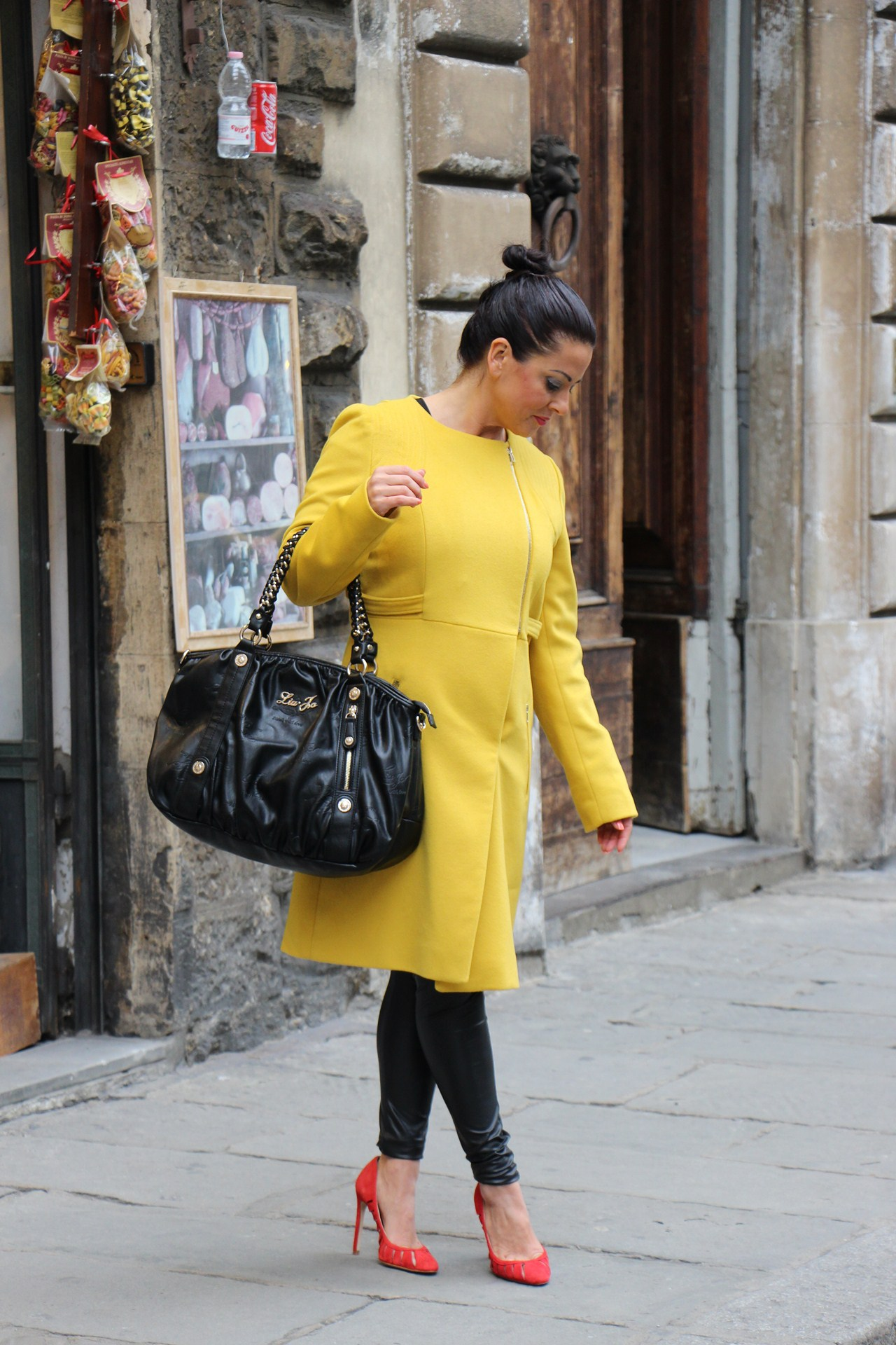 Grazielle Camilleri yellow coat 5