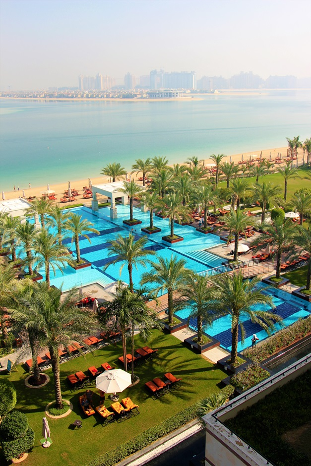 view from our hotel room at Jumeirah Zabeel Sarey