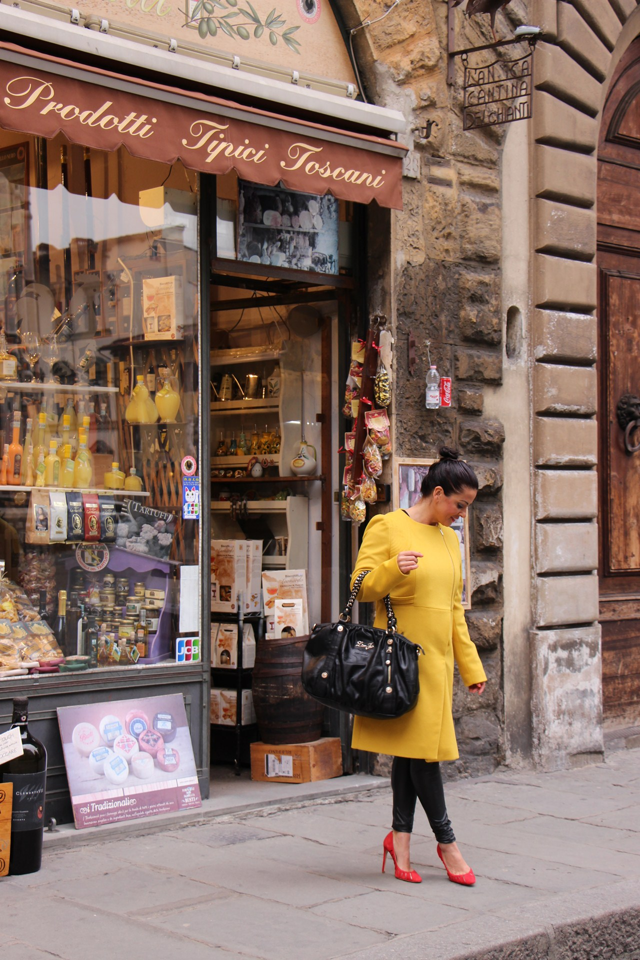 Grazielle Camilleri yellow coat 1 A
