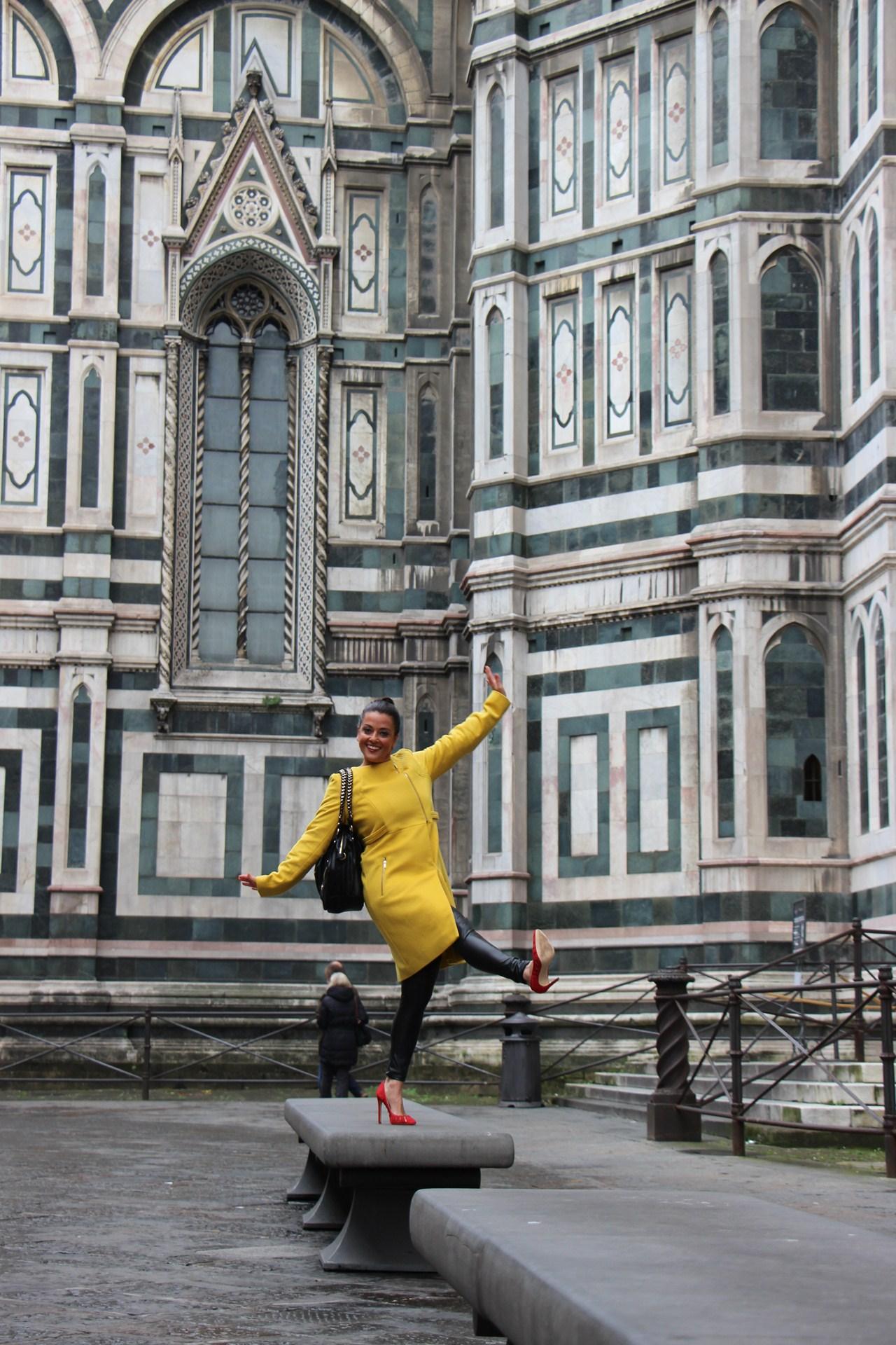 Grazielle Camilleri yellow coat 4