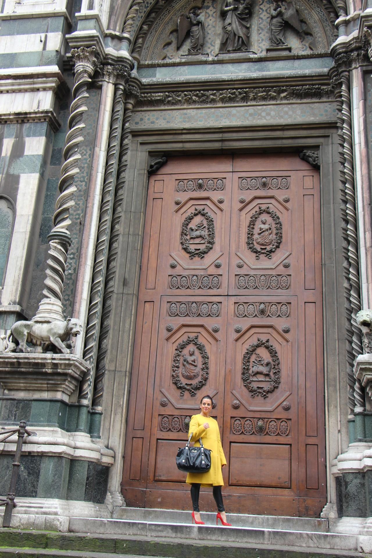 Grazielle Camilleri yellow coat  7