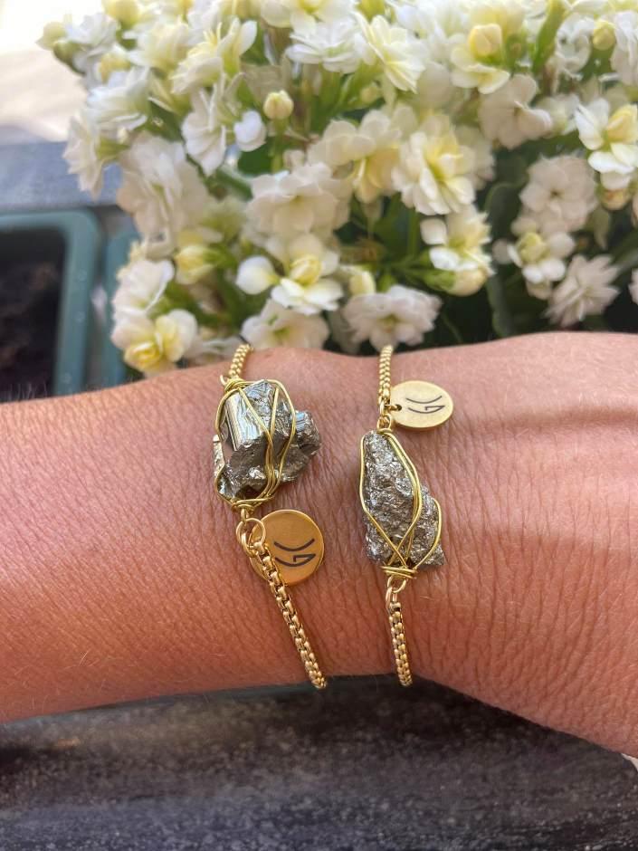pyrite crystal bracelet - crystals Malta