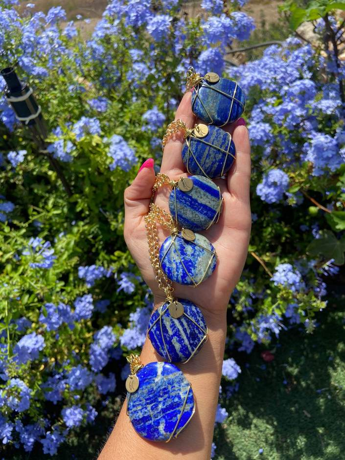 Lapis Lazuli crystal pendants