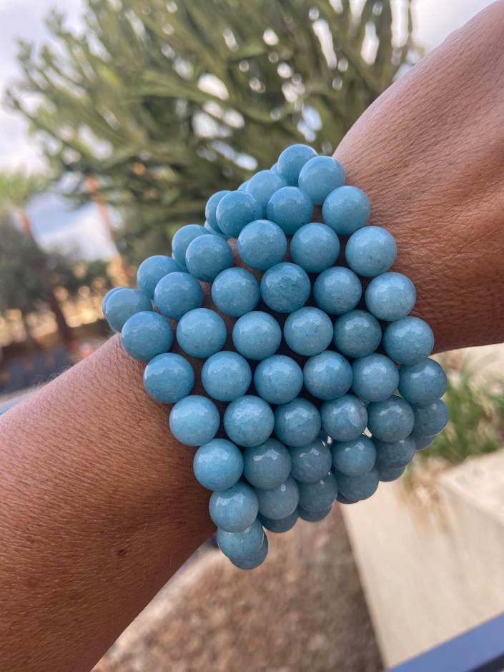 Aquamarine bracelets